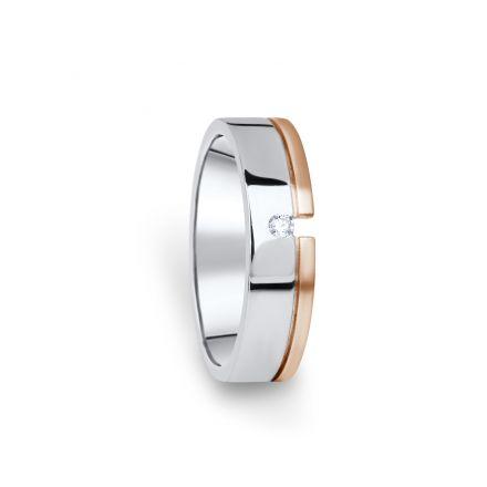 Zlatý dámský prsten DF 16/D, s briliantem