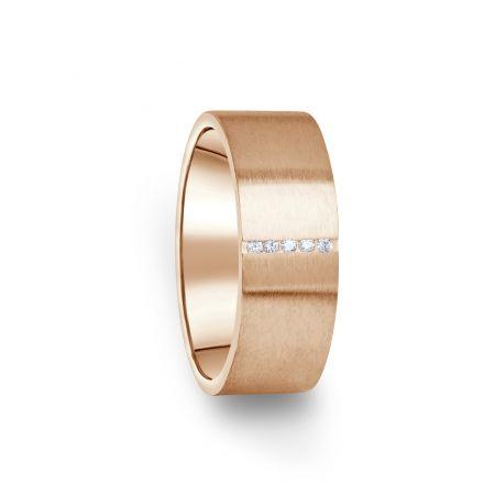 Zlatý dámský prsten DF 17/D z růžového zlata, s briliantem