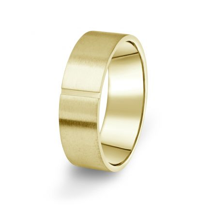 Prsten Danfil DF17/P žluté zlato 585/1000 s bez kameneem povrch brus