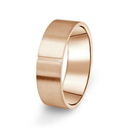 Prsten Danfil DF17/P červené(růžové) zlato 585/1000 s bez kameneem povrch brus