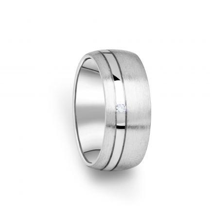Zlatý dámský prsten DF 18/D, s briliantem