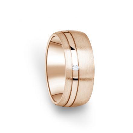 Zlatý dámský prsten DF 18/D z růžového zlata, s briliantem