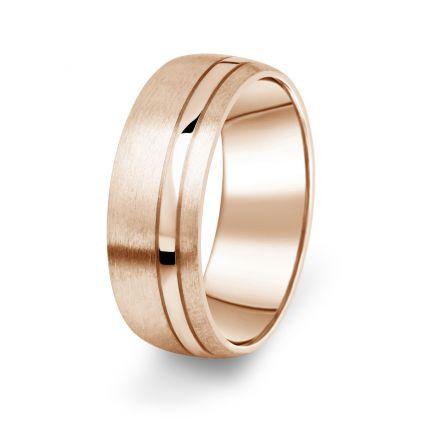 Prsten Danfil DF18/P červené(růžové) zlato 585/1000 s bez kameneem povrch brus