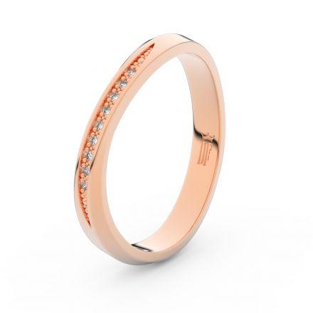 Zlatý dámský prsten DF 3017 z růžového zlata, s briliantem