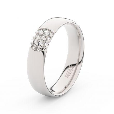 Zlatý dámský prsten DF 3021 z bílého zlata, s briliantem
