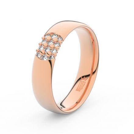 Zlatý dámský prsten DF 3021 z růžového zlata, s briliantem