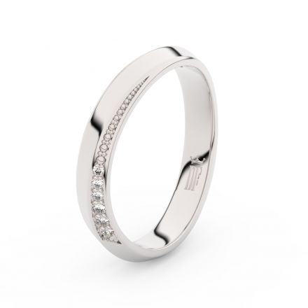 Stříbrný dámský prsten DF 3023 , s briliantem