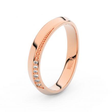 Zlatý dámský prsten DF 3023 z růžového zlata, s briliantem