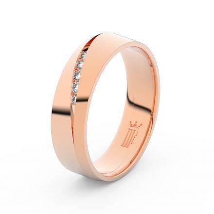 Zlatý dámský prsten DF 3034 z růžového zlata, s briliantem