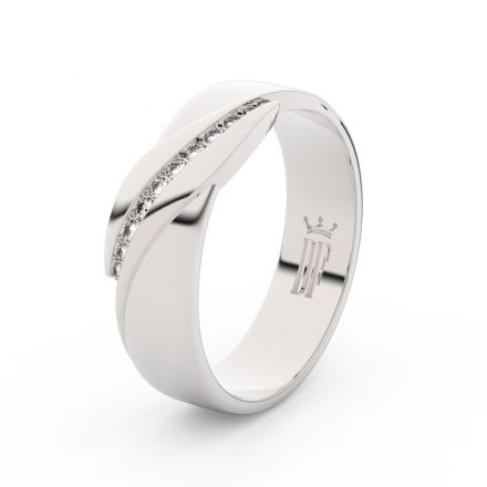 Stříbrný dámský prsten DF 3039 , s briliantem