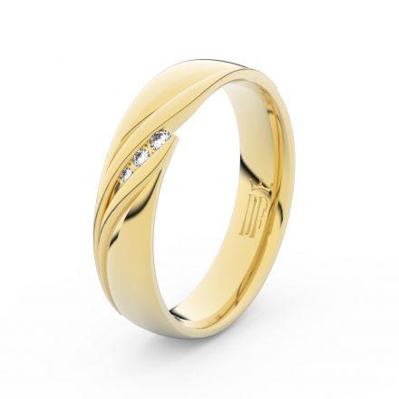 Zlatý dámský prsten DF 3044 ze žlutého zlata, s briliantem