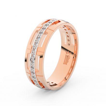 Zlatý dámský prsten DF 3048 z růžového zlata, s briliantem