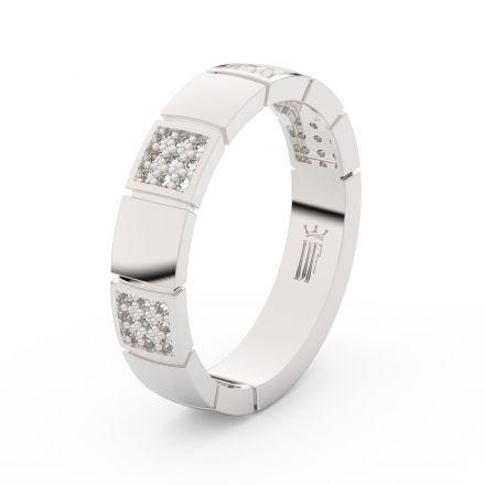 Zlatý dámský prsten DF 3057 z bílého zlata, s brilianty