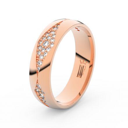 Dámský snubní prsten DF 3074 z růžového zlata, s briliantem