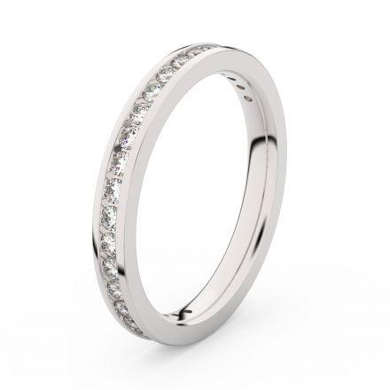 Zlatý dámský prsten DF 3893 z bílého zlata, s briliantem