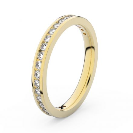 Zlatý dámský prsten DF 3893 ze žlutého zlata, s briliantem