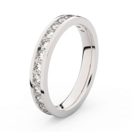 Zlatý dámský prsten DF 3894 z bílého zlata, s briliantem