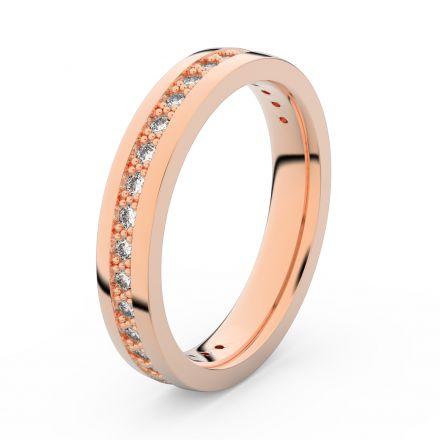 Zlatý dámský prsten DF 3897 z růžového zlata, s briliantem