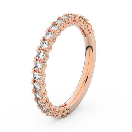Zlatý dámský prsten DF 3902 z růžového zlata, s briliantem