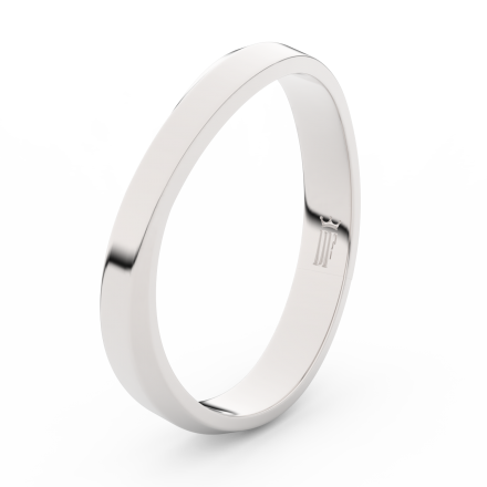Prsten Danfil DLR3018 Stříbro 925/1000 (povrch bílé rhodium snow white) bez kamene povrch lesk