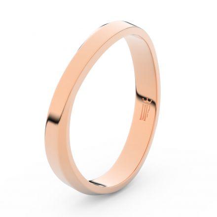 Prsten Danfil DLR3018 červené(růžové) zlato 585/1000 bez kamene povrch lesk