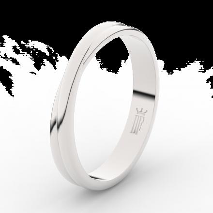 Prsten Danfil DLR3020 Stříbro 925/1000 (povrch bílé rhodium snow white) bez kamene povrch lesk