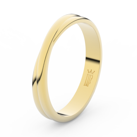 Prsten Danfil DLR3020 žluté zlato 585/1000 bez kamene povrch lesk