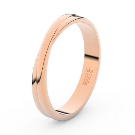 Prsten Danfil DLR3020 červené(růžové) zlato 585/1000 bez kamene povrch lesk