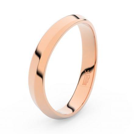 Prsten Danfil DLR3024 červené(růžové) zlato 585/1000 bez kamene povrch lesk