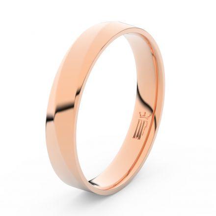 Prsten Danfil DLR3026 červené(růžové) zlato 585/1000 bez kamene povrch lesk