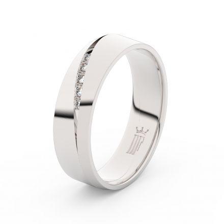 Prsten Danfil DLR3034 Stříbro 925/1000 (povrch bílé rhodium snow white) se zirkonem (White) povrch l