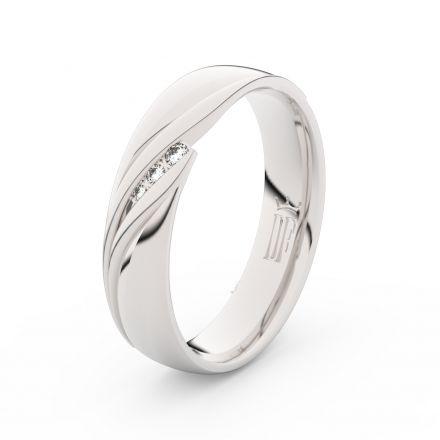Prsten Danfil DLR3044 Stříbro 925/1000 (povrch bílé rhodium snow white) se zirkonem (White) povrch l