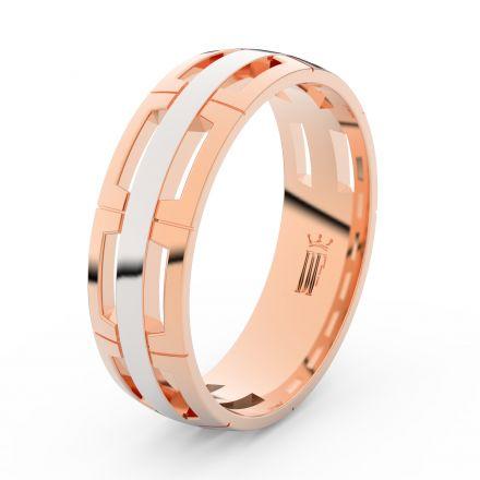 Prsten Danfil DLR3049 červené(růžové) zlato 585/1000 bez kamene povrch lesk