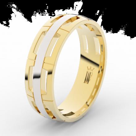 Prsten Danfil DLR3049 žluté zlato 585/1000 bez kamene povrch RH