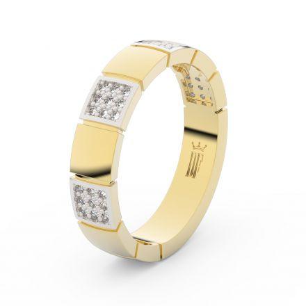 Prsten Danfil DLR3057 žluté zlato 585/1000 se zirkonem (White) povrch RH