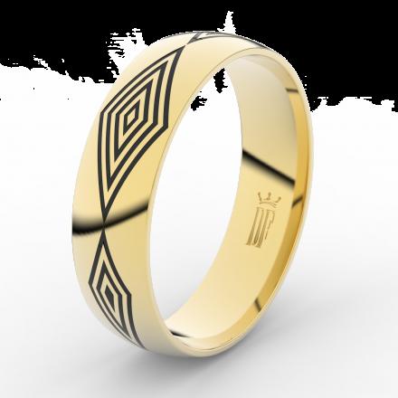 Prsten Danfil DLR3075 žluté zlato 585/1000 bez kamene povrch lesk
