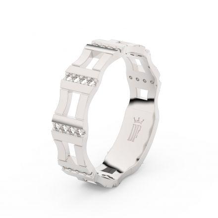Prsten Danfil DLR3084 Stříbro 925/1000 (povrch bílé rhodium snow white) se zirkonem (White) povrch l