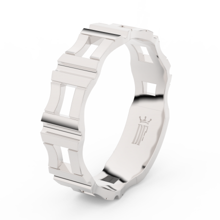 Prsten Danfil DLR3085 Stříbro 925/1000 (povrch bílé rhodium snow white) bez kamene povrch lesk