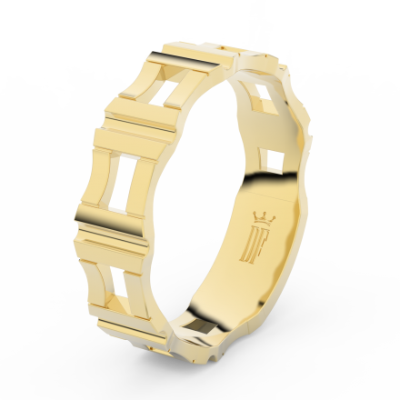 Prsten Danfil DLR3085 žluté zlato 585/1000 bez kamene povrch lesk