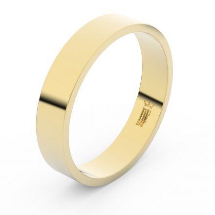 Zlatý snubní prsten FMR 1G45 ze žlutého zlata, bez kamene
