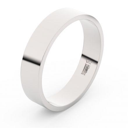 Zlatý snubní prsten FMR 1G50 z bílého zlata, bez kamene