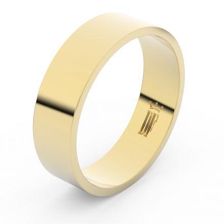 Zlatý snubní prsten FMR 1G60 ze žlutého zlata, bez kamene
