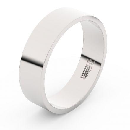 Zlatý snubní prsten FMR 1G60 z bílého zlata, bez kamene