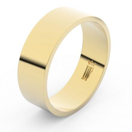 Zlatý snubní prsten FMR 1G70 ze žlutého zlata, bez kamene