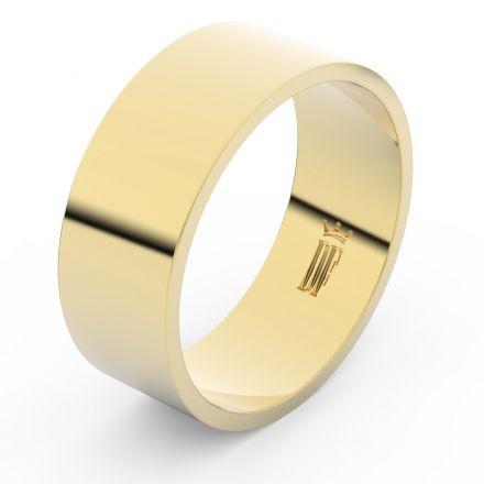 Zlatý snubní prsten FMR 1G80 ze žlutého zlata, bez kamene