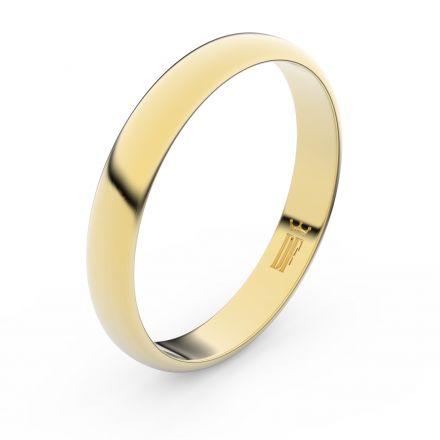 Zlatý snubní prsten FMR 2B35 ze žlutého zlata, bez kamene