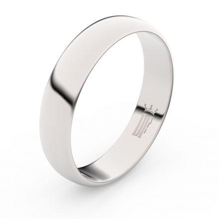 Zlatý snubní prsten FMR 2E50 z bílého zlata, bez kamene