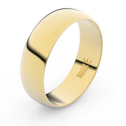 Zlatý snubní prsten FMR 3B65 ze žlutého zlata, bez kamene