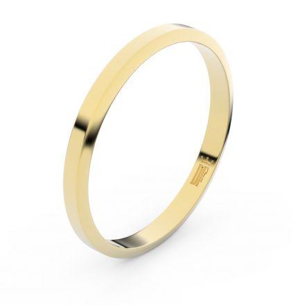 Zlatý snubní prsten FMR 4A25 ze žlutého zlata, bez kamene
