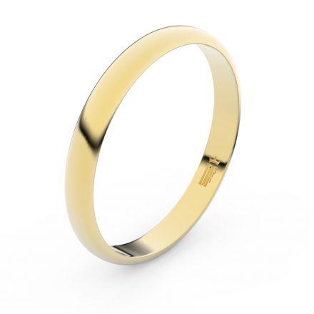 Zlatý snubní prsten FMR 4F30 ze žlutého zlata, bez kamene